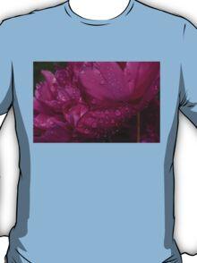 Petals and Drops - Magenta Glow Peony T-Shirt