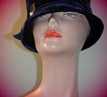 Black Vintage Hat by Kathleen Struckle