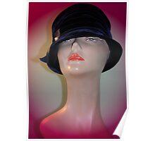 Black Vintage Hat Poster