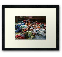 Shan kids napping Framed Print