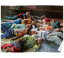Shan kids napping Poster