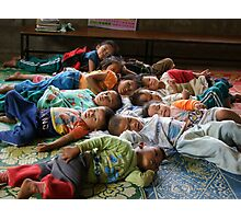 Shan kids napping Photographic Print