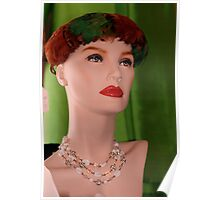 Feather Vintage Hat Poster