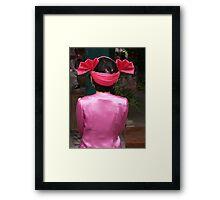 Shan girl in costume Framed Print