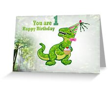 A greeting for one year old  Greeting Card
