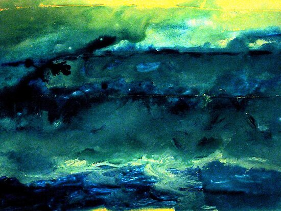 Stormy Seas Impressions Abstract inspired by the River Liffey Dublin by heartyart