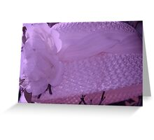 Violet Tint Vintage Hat Greeting Card