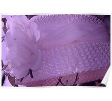 Violet Tint Vintage Hat Poster