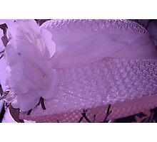 Violet Tint Vintage Hat Photographic Print