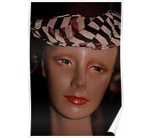 Black Striped Hat Poster