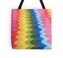 Rainbow Ripple Crochet Love Tote Bag