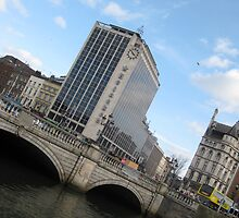 O'Connell Bridge and Heineken Building Dublin Ireland by heartyart