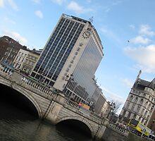 O'Connell Bridge and Heineken Building Dublin Ireland by heartyart