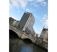 O'Connell Bridge and Heineken Building Dublin Ireland Photographic Print