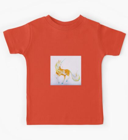 Pinto Palomino Unicorn  with Blue  Kids Tee