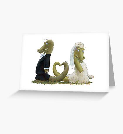 Gator Luv Greeting Card