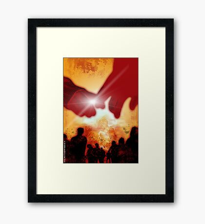 Will you still love me...when the apocalypse comes? Framed Print