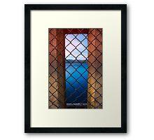 Peeking Through Maroondah Dam Wall Framed Print