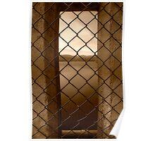 Peeking Through Maroondah Dam Wall in Sepia Poster