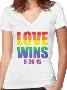 Love Wins 6-26-15 Women's Fitted V-Neck T-Shirt