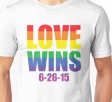 Love Wins 6-26-15 Unisex T-Shirt