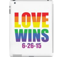 Love Wins 6-26-15 iPad Case/Skin