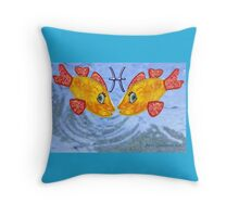 Astrology Pisces Throw Pillow