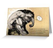 Tusk, the Elephant Man Greeting Card