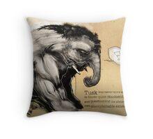 Tusk, the Elephant Man Throw Pillow