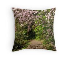 Pink Rhodie Canapy Throw Pillow