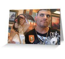 Heavy Metal  Iguana Greeting Card