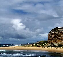 Nobby's Beach Lighthouse by Donna Keevers Driver