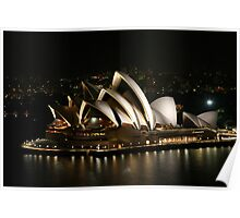 Opera House at Night, Sydney, Australia Poster