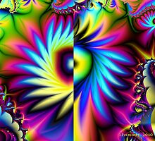 Wild Fractal Flower by Julie Everhart