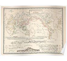 Atlas zu Alex V Humbolt's Cosmos 1851 0156 Die Stromsysteme der Erde Power Systems of the Earth Poster