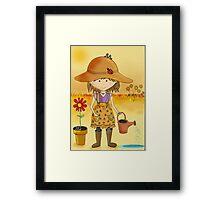 Little Gardener in a Sunburnt Country Framed Print