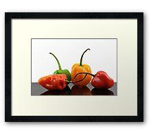 Habaneros Framed Print