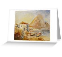 Sunrise on the lake Greeting Card