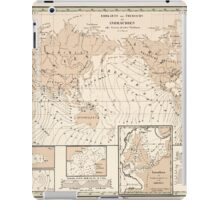 Atlas zu Alex V Humbolt's Cosmos 1851 0154 Earth Map Isorachien iPad Case/Skin