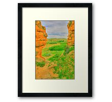 From a Hole in the Rock in HDR Framed Print