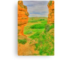 From a Hole in the Rock in HDR Canvas Print