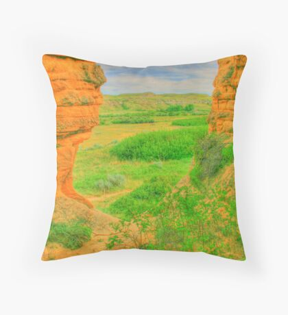 From a Hole in the Rock in HDR Throw Pillow