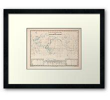 Atlas zu Alex V Humbolt's Cosmos 1851 0152 Electro Magnetic World Map Framed Print