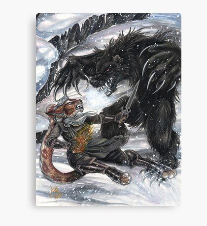 Werebear Battle Canvas Print