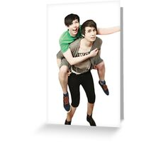 phil riding dan  Greeting Card
