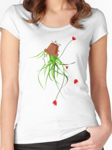 pot-head_large print/hoodie Women's Fitted Scoop T-Shirt
