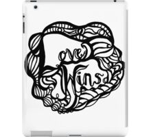 Love Wins Design - Version One iPad Case/Skin