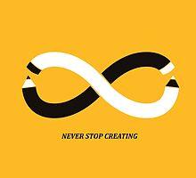 Never stop making by Budi Kwan