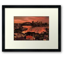 Red Sky In The Morning - Moods of A City - The HDR Experience Framed Print