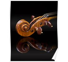 Stradivarius Scroll Reflected Poster